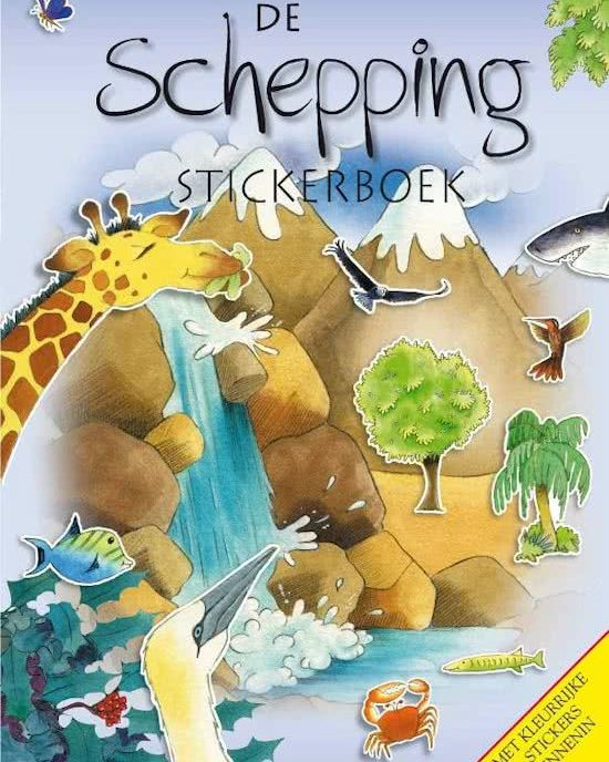Schepping Stickerboek stickers Stikkers Stikkerboek